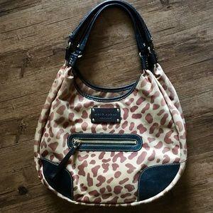 Kate Spade Leopard Print Red Interior Handbag 